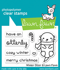 * NEW * - Lawn Fawn - winter otter