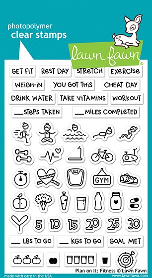 * NEW * - Lawn Fawn - plan on it: fitness