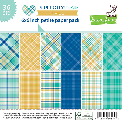 * NEW * - Lawn Fawn - perfectly plaid chill petite paper pack