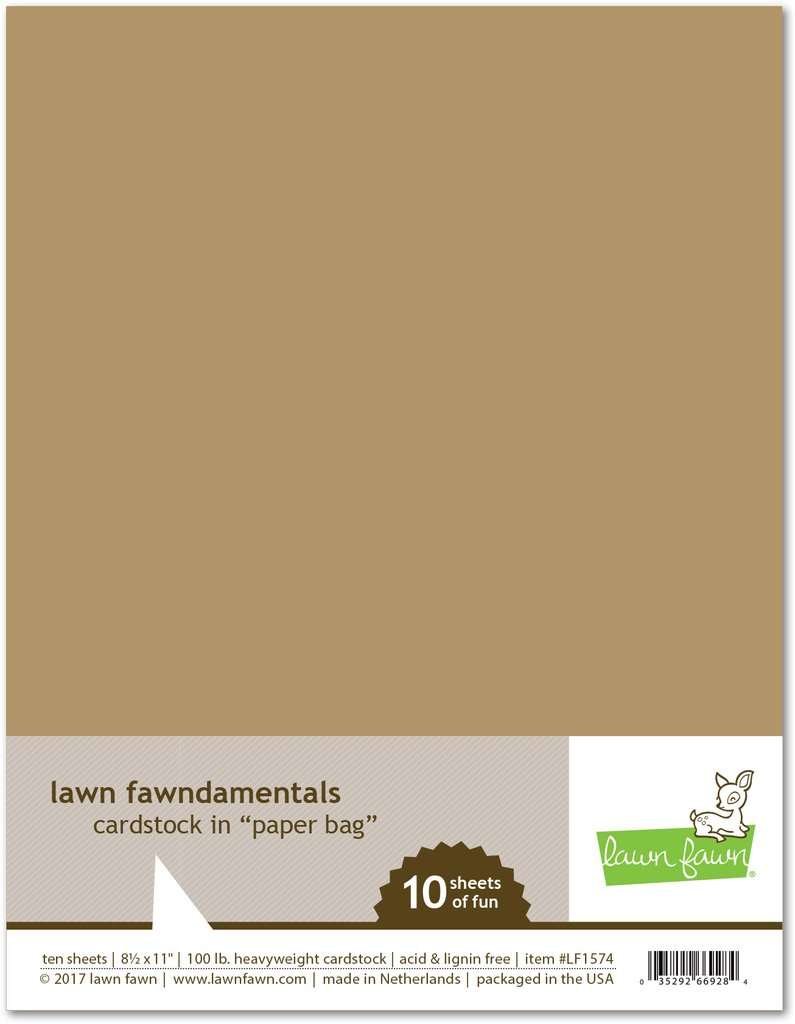 *NEW* - Lawn Fawn - paper bag cardstock