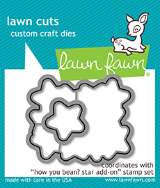 *NEW* - Lawn Fawn - how you bean? star add-on - lawn cuts