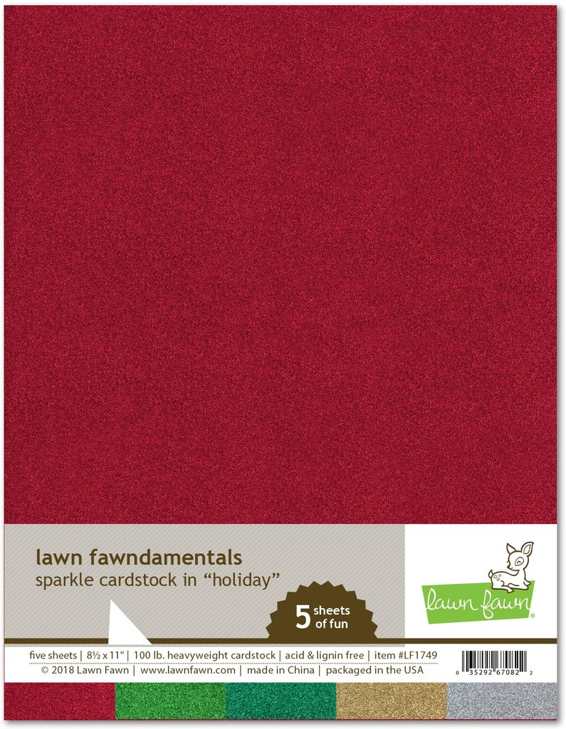 *NEW* - Lawn Fawn - sparkle cardstock - holiday