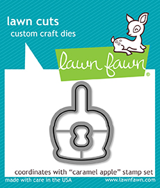 Lawn Fawn - caramel apple - lawn cuts