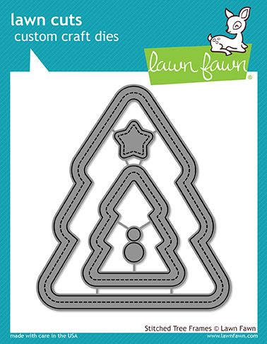 *NEW* - Lawn Fawn - stitched christmas tree frames