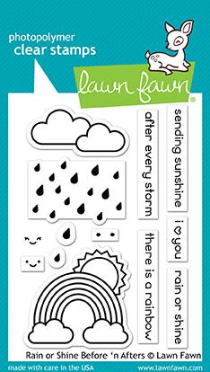 *NEW* - Lawn Fawn - rain or shine before 'n afters