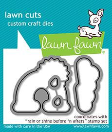 *NEW* - Lawn Fawn - rain or shine before 'n afters - lawn cuts
