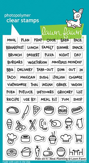 *NEW* - Lawn Fawn - plan on it: meal planning