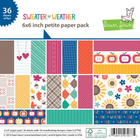 Lawn Fawn- Paper - Sweater Weather - Petite Paper Pack