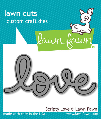 Lawn Fawn- Lawn Cuts - Scripty Love Dies