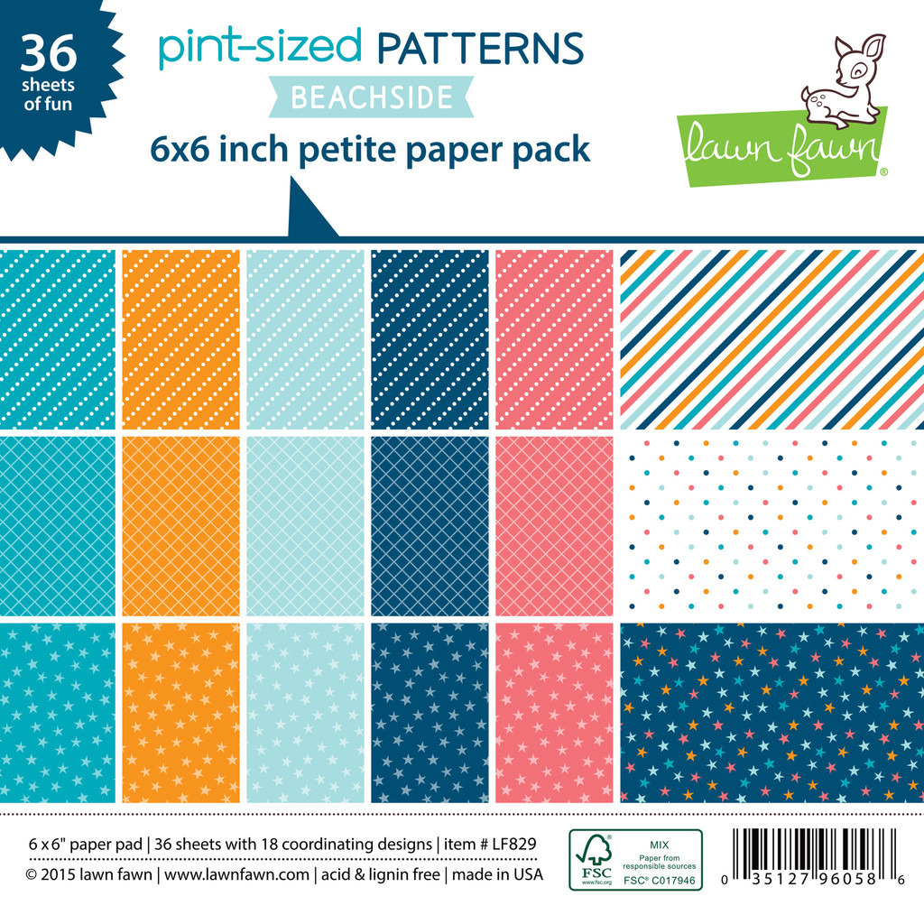 Lawn Fawn- Paper - Pint-Sized Patterns in Beachside - petite
