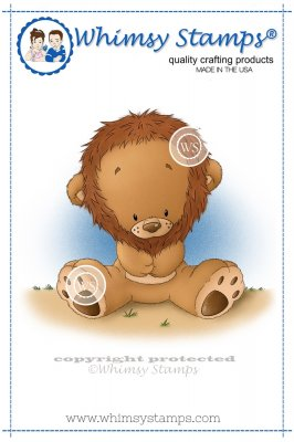 Whimsy Stamps - Little Lion - Lee Holland Collection