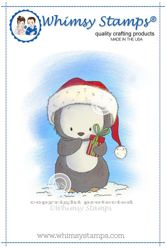 Whimsy Stamps - Christmas Penguin - Lee Holland Collection