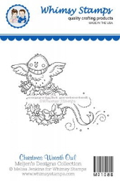 ###Whimsy Stamps - Christmas Wreath Owl - Meljen's Designs
