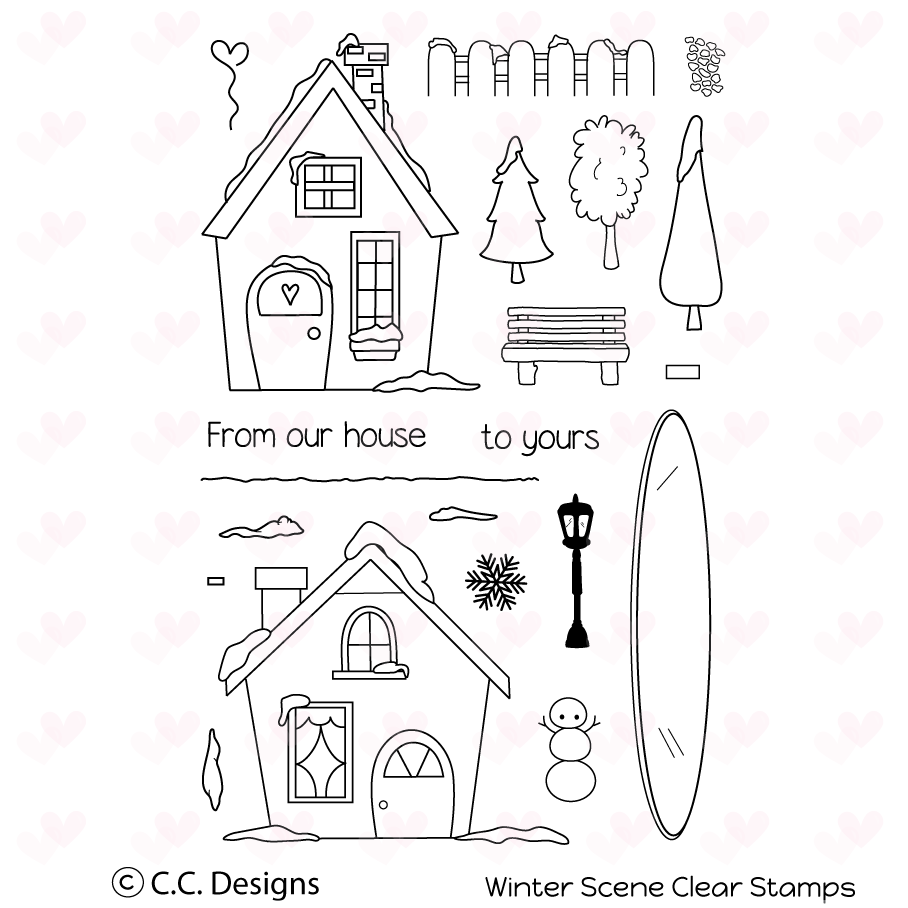 *NEW* - CC Designs - Winter Scene Clear Stamp Set