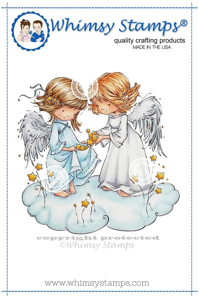 Whimsy Stamps - Angel Wishes Rubber Cling Stamp