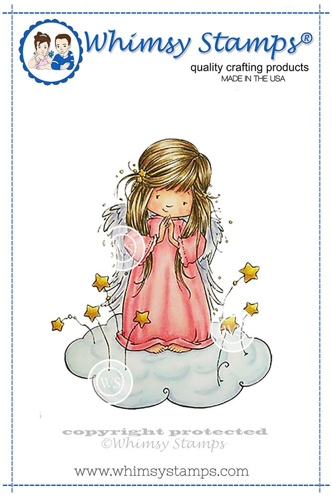 Whimsy Stamps - Angel Nevaeh Rubber Cling Stamp