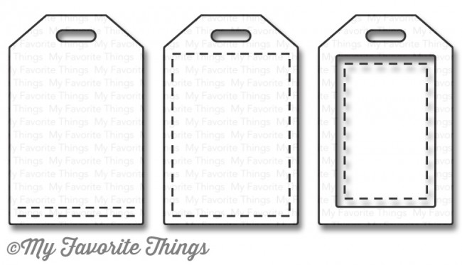My Favorite Things -  Stitched Tiny Tags Die-namics