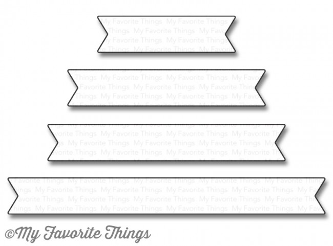 My Favorite Things - Die-namics Essential Fishtail Sentiment Strips