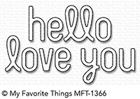 *NEW* - My Favorite Things - Die-namics Simply Hello & Love You