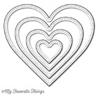 ###My Favorite Things -  Pierced Heart STAX Die-namics