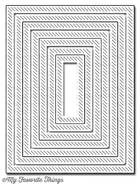 *SP* My Favorite Things -  Inside & Out Diagonal Stitched Rectangle STAX Die-namics