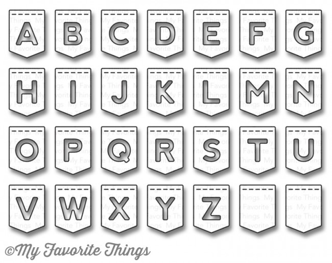 My Favorite Things - Die-namics Stitched Banner Alphabet