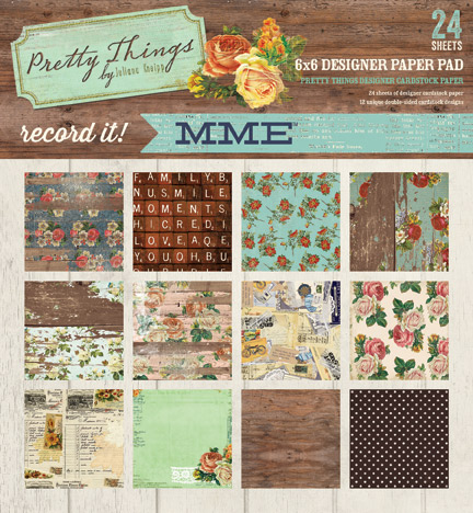 My Minds Eye - Record It - Pretty Things 6 x 6 Pad