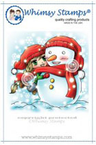 *xmas* Whimsy Stamps - Snow Hugs - Art by MiRan