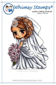 Whimsy Stamps - Bella the Bride - Art by MiRan
