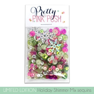 Pretty Pink Posh - Holiday Shimmer Sequins Mix