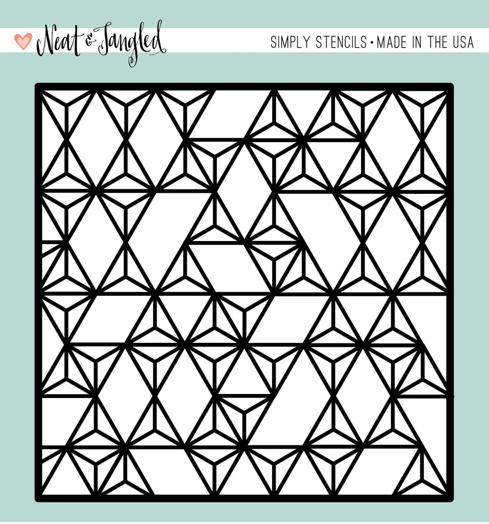 *NEW* - Neat & Tangled - Modern Triangles- Simply Stencil