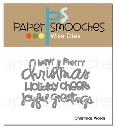 *XMAS* Paper Smooches - DIES - Christmas Words