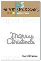 *XMAS* Paper Smooches - DIES - Merry Christmas Die
