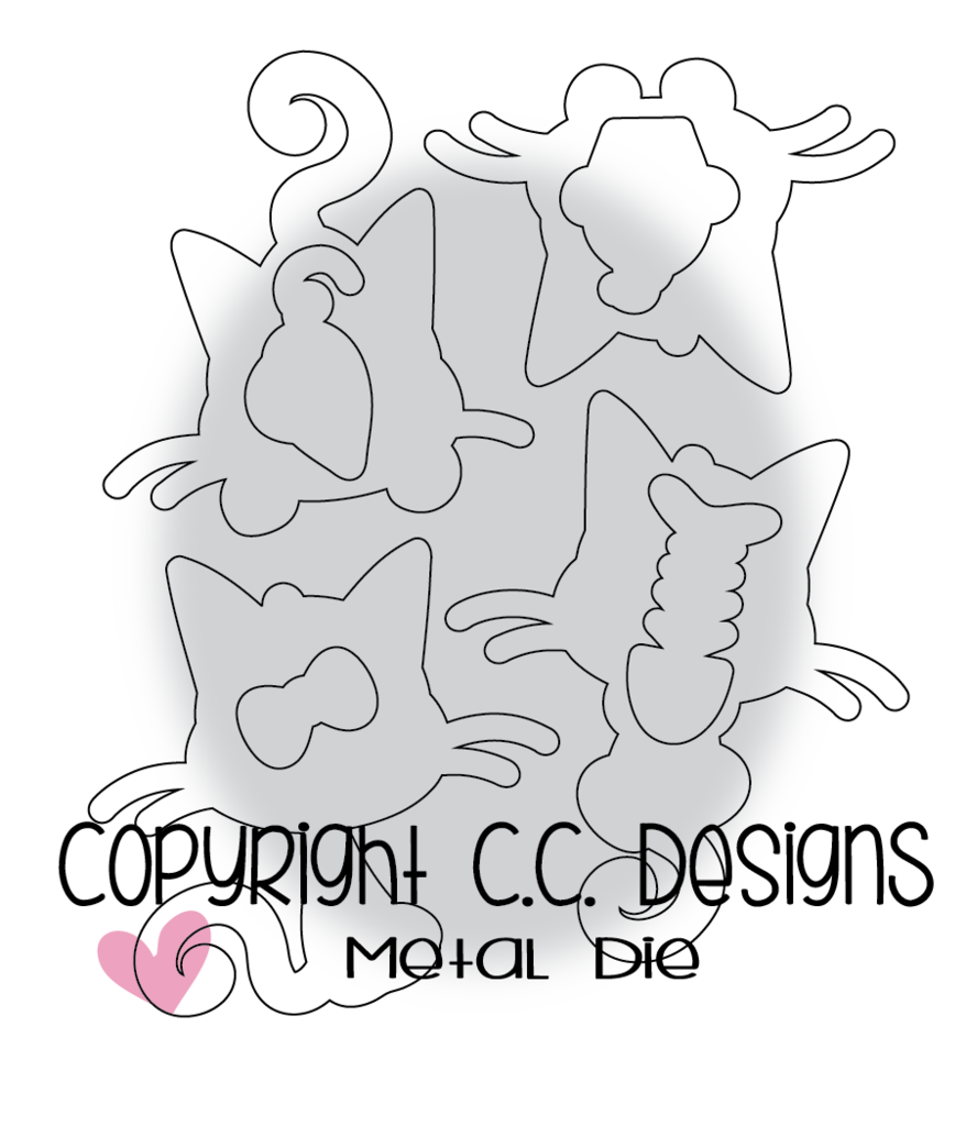 CC Designs - Meoples Meowy Outline Die