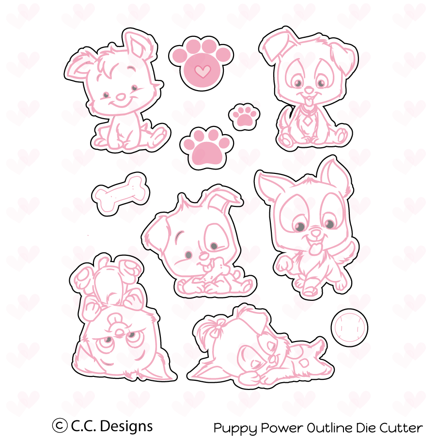 *PRE-ORDER* - CC Designs - Puppy Power Outline Metal Die
