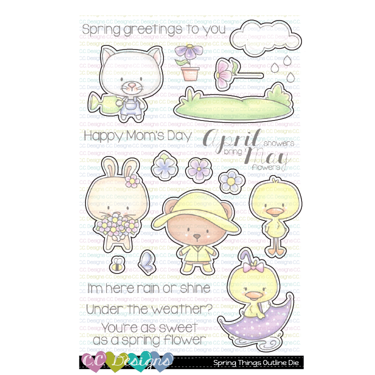 *NEW* - CC Designs - April & May Outline Die