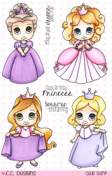 Pinkies Sweet November Princesses Clear Stamps