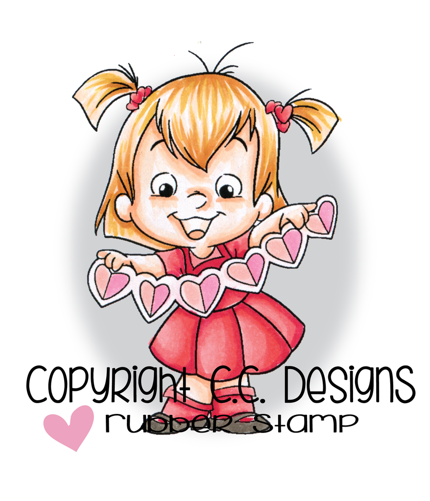 CC Designs - Roberto's Rascals String Of Hearts Rubber Stamp