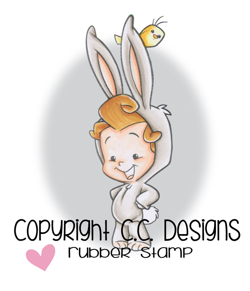 *NEW* - CC Designs - Roberto's Rascals Bunny Boy Rubber Stamp