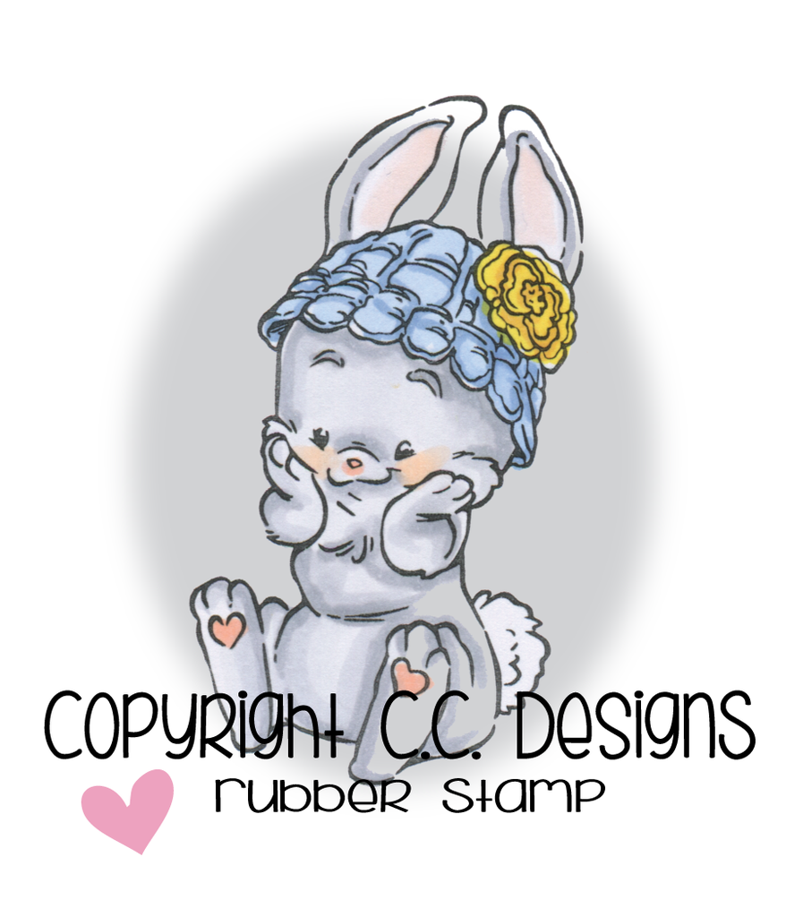 *NEW* - CC Designs - Rustic Sugar Sweet Bunny Rubber Stamp