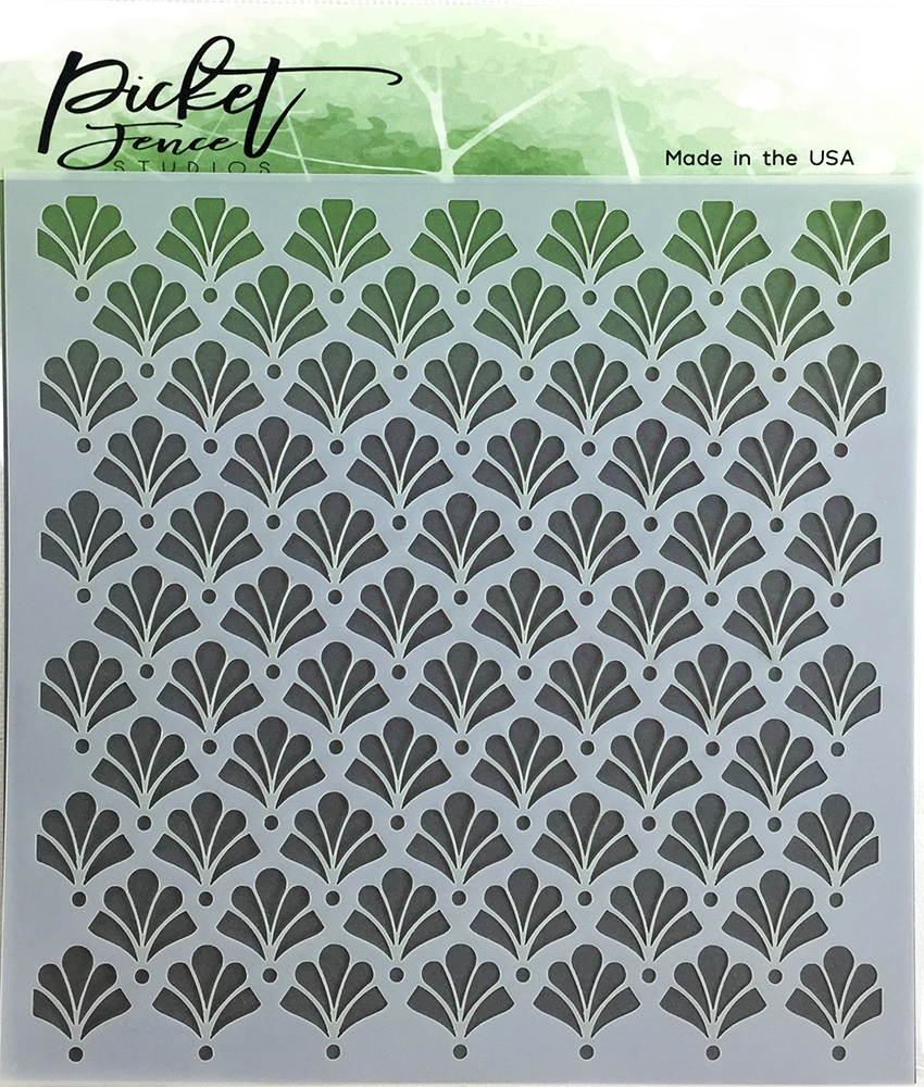 *NEW* - Picket Fence Studios - Floral Damask Stencil