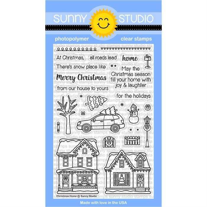 Sunny Studio - Christmas Home Stamps