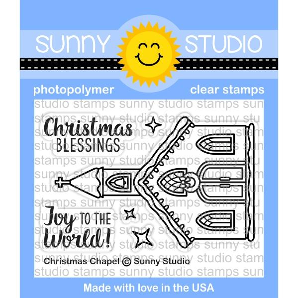 Sunny Studio - Christmas Chapel Stamps