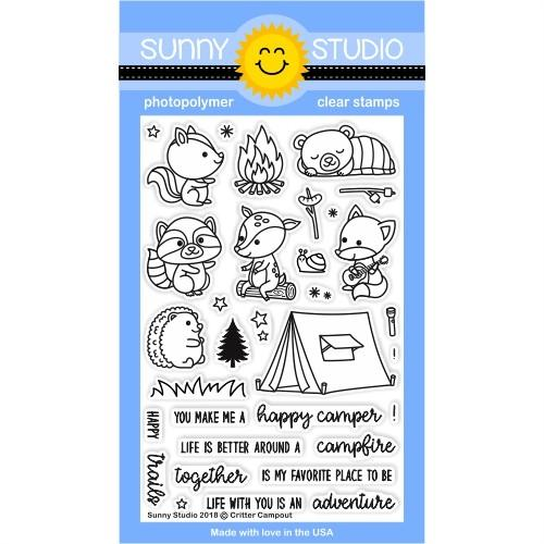 Sunny Studio - Critter Campout Stamps
