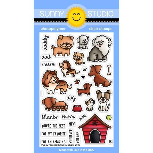 *NEW* - Sunny Studio - Puppy Parents Stamps