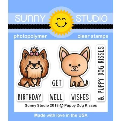 *NEW* - Sunny Studio - Puppy Dog Kisses Stamps