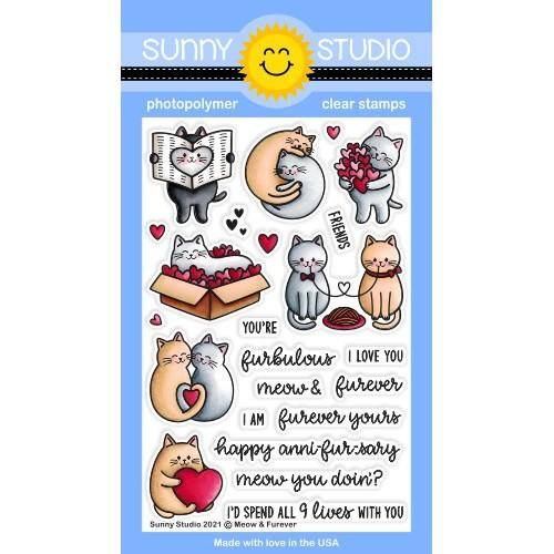 *NEW* - Sunny Studio - Meow & Furever Stamps