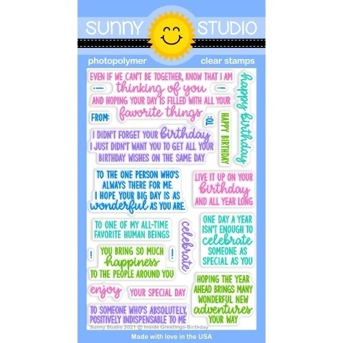 *NEW* - Sunny Studio - Inside Greetings Birthday Stamps