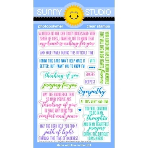 *NEW* - Sunny Studio - Inside Greetings Sympathy Stamps
