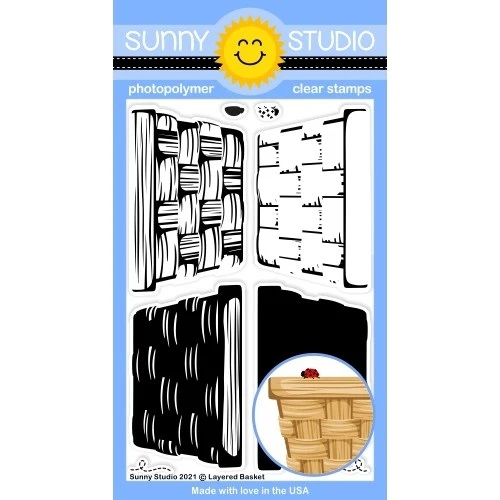*NEW* - Sunny Studio - Layered Basket Stamps